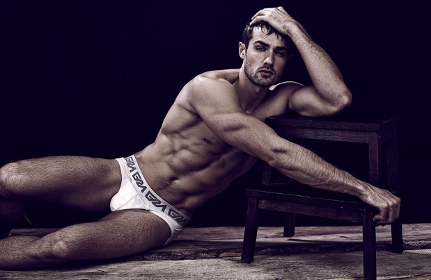 Paul Knops Garcon Model Underwear Model White Briefs David Jaems