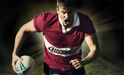 Aussiebum Rugby Jersey Maroon