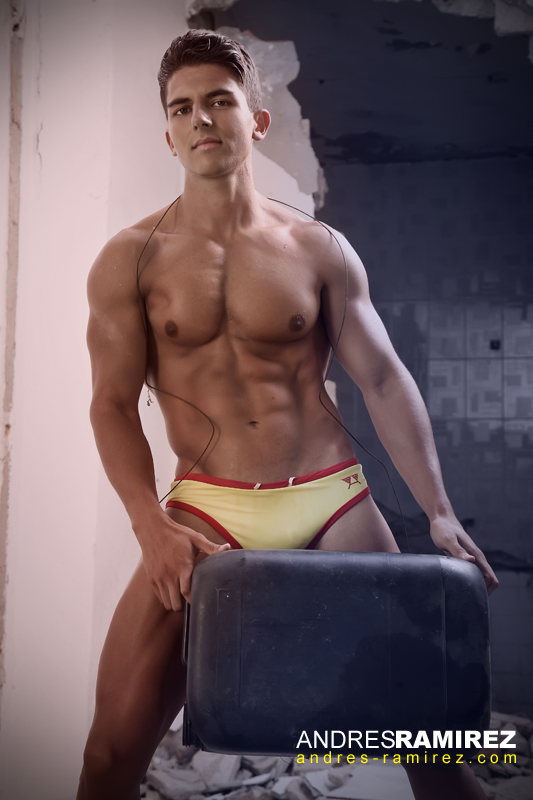 Santiago Quintero by Andres Ramirez in LASC Swim Briefs
