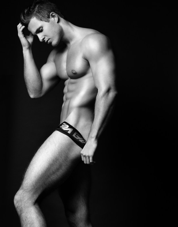 Model Thomas Keal by Fashion Photogrpaher Brian Jamie for Garcon Model Underwear sporting black brief #2
