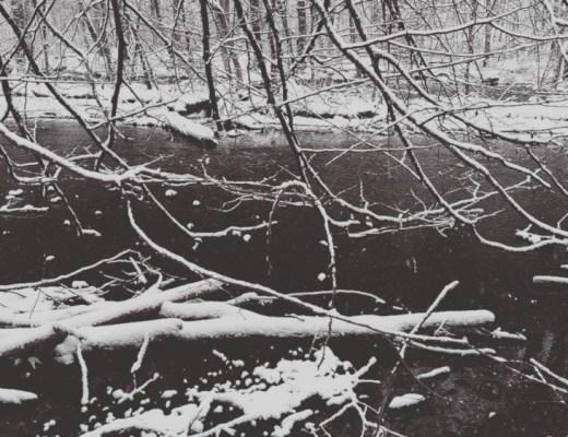 Würm river in winter