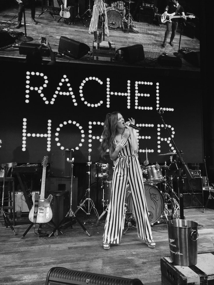 Rachel Horter on stage performing at Ole Red Nashville
