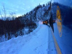 Xiodan took a train to Alaska!