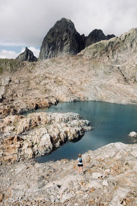 spectacle des lacs Noirs dans les montagnes de chamonix