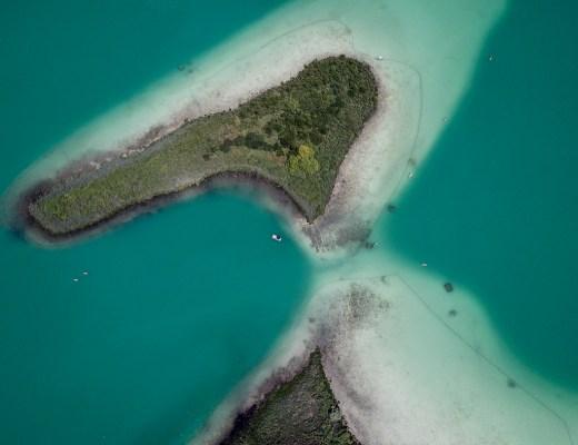 lac d'aiguebelette vue aérienne