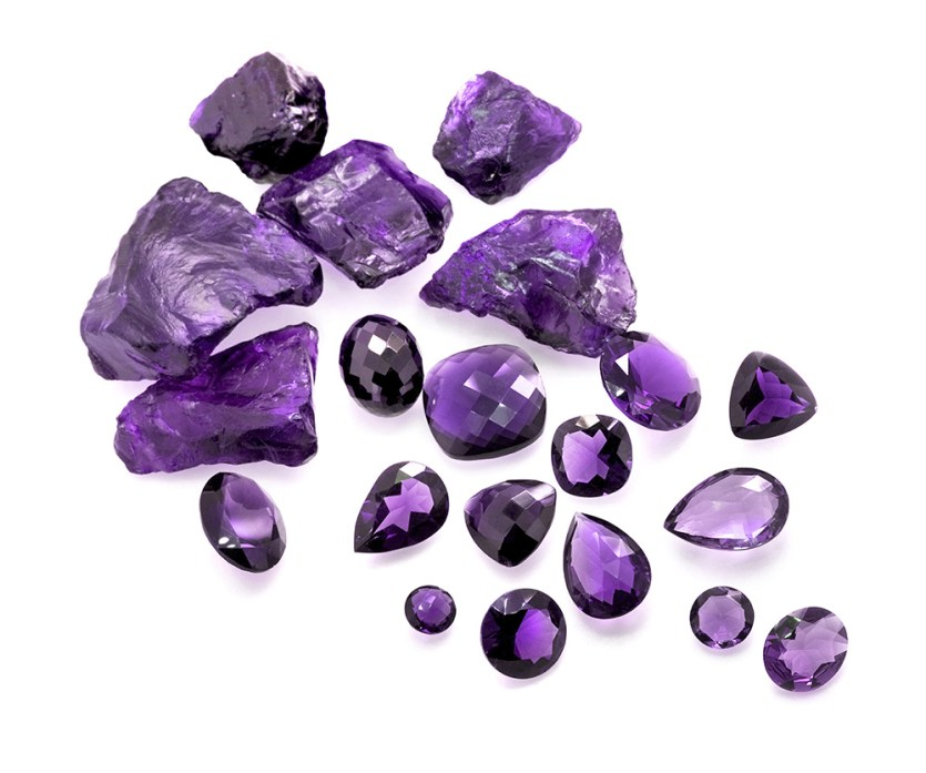 birthstone-february-amethyst-raw-faceted-stones