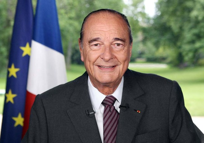 File photo of then outgoing French President Chirac as French magistrate has ordered him to stand trial on embezzlement charges dating back to his time as mayor of Paris