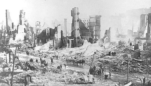 après l'incendie de Baltimore