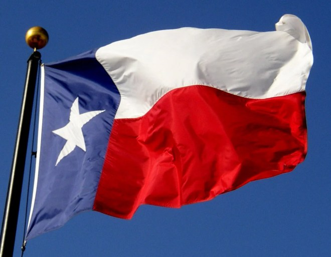 drapeau du texas, colonie établie un 18 février