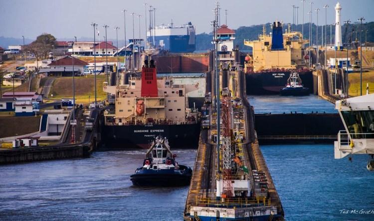panama canal gatun locks photo