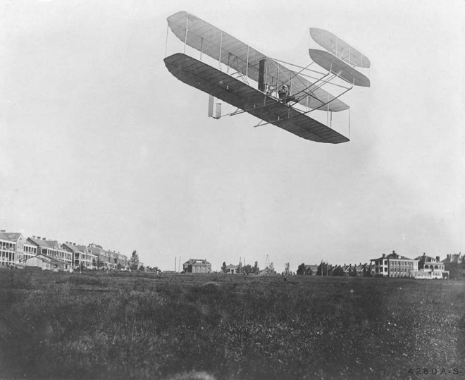 Wright Type A Airplane - Orville Wright at Ft. Myer, Va. - Sept. 9, 1908
