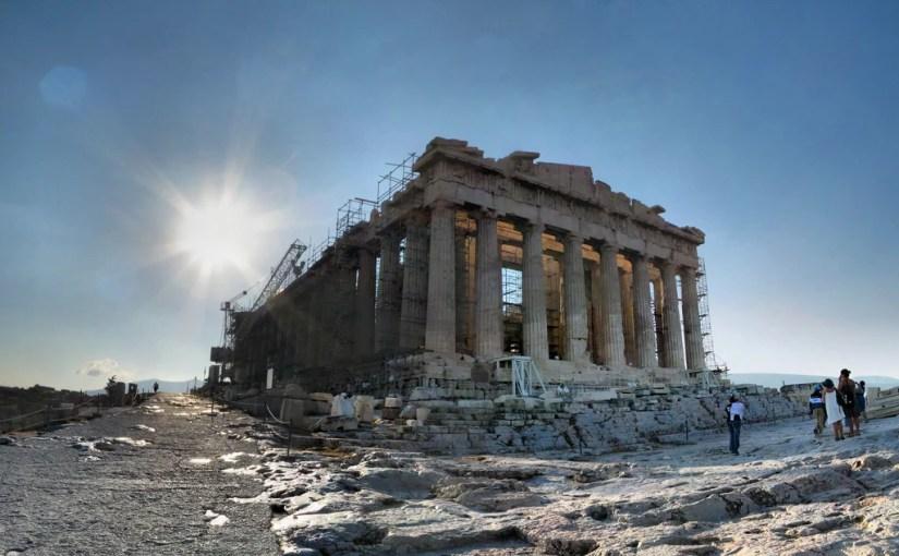 l'acropole d'Athènes un 7 septembre