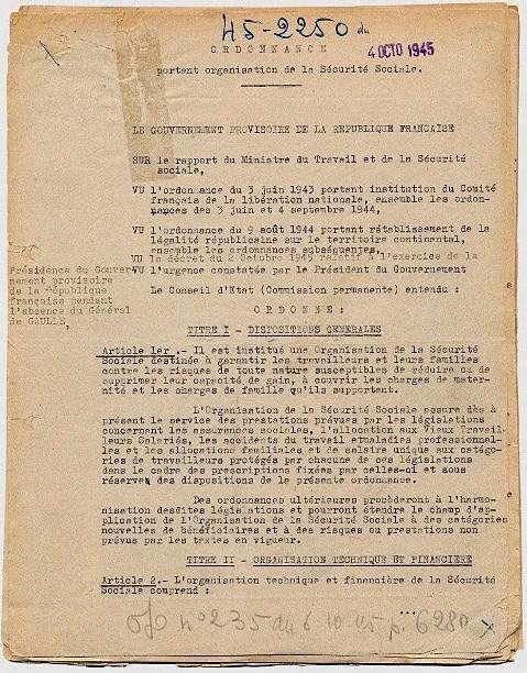 Ordonnance du 4 octobre 1945 relative à l'organisation de la Sécurité sociale 19780555 art 9