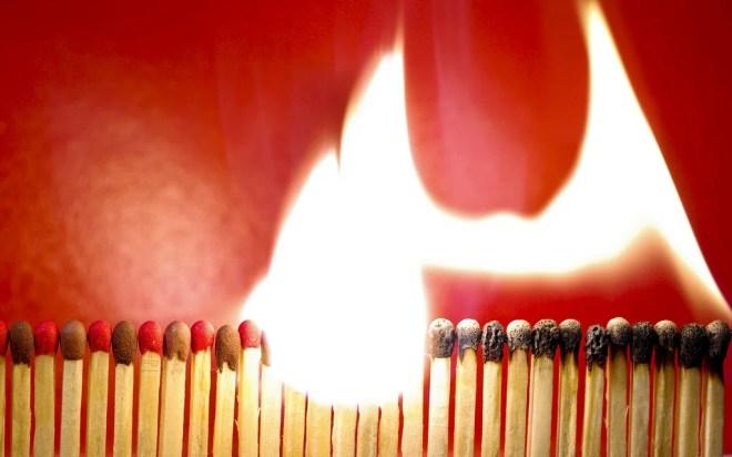 allumette flamme photo