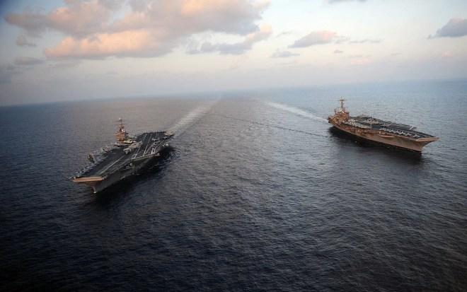 porte-avions américains mer d'arabie