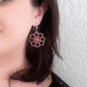 Boucles d'oreilles en dentelle Elizabeth