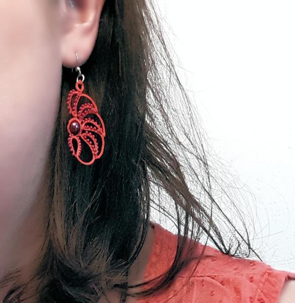 Boucles d'oreilles en dentelle Poppy