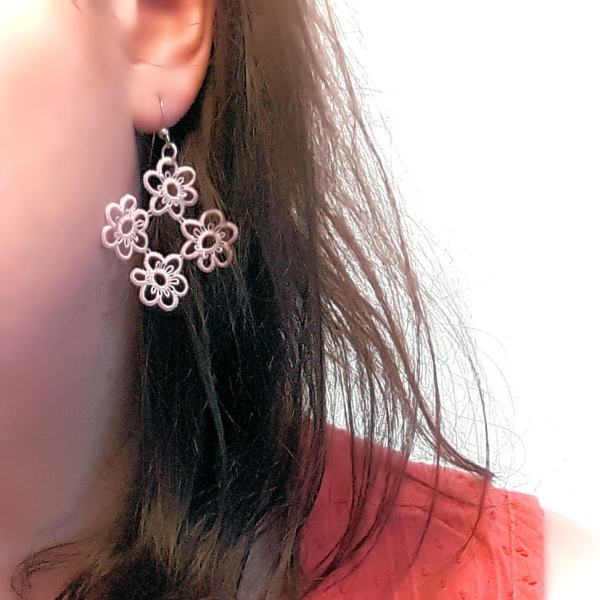 Boucles d'oreilles en dentelle Hanami