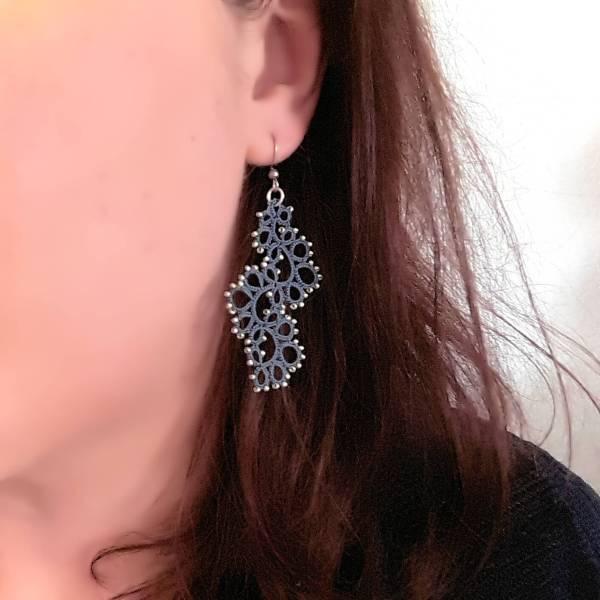 Boucles d'oreilles en frivolité Livia