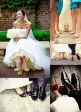 chaussures colorées