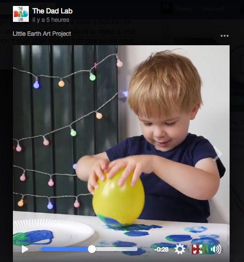 Peindre avec un ballon © The Dad Lab