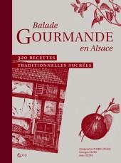 Couverture livre Balade gourmande en Alsace