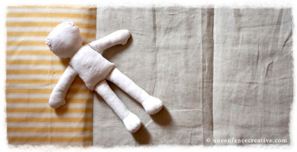 Activité couture - poupée de chiffon - corps terminé