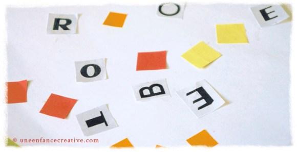 Découpage lettre alphabet