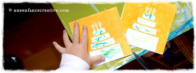 Création de carton d'invitation anniversaire