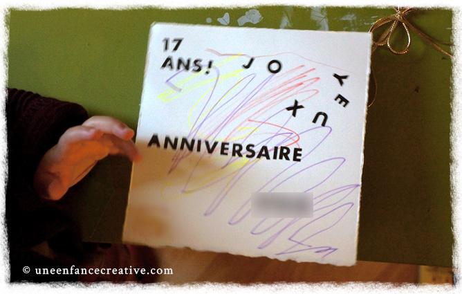 Création de la carte de vœux d'anniversaire