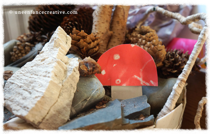 Décoration d'automne : fabriquer champignons en papier