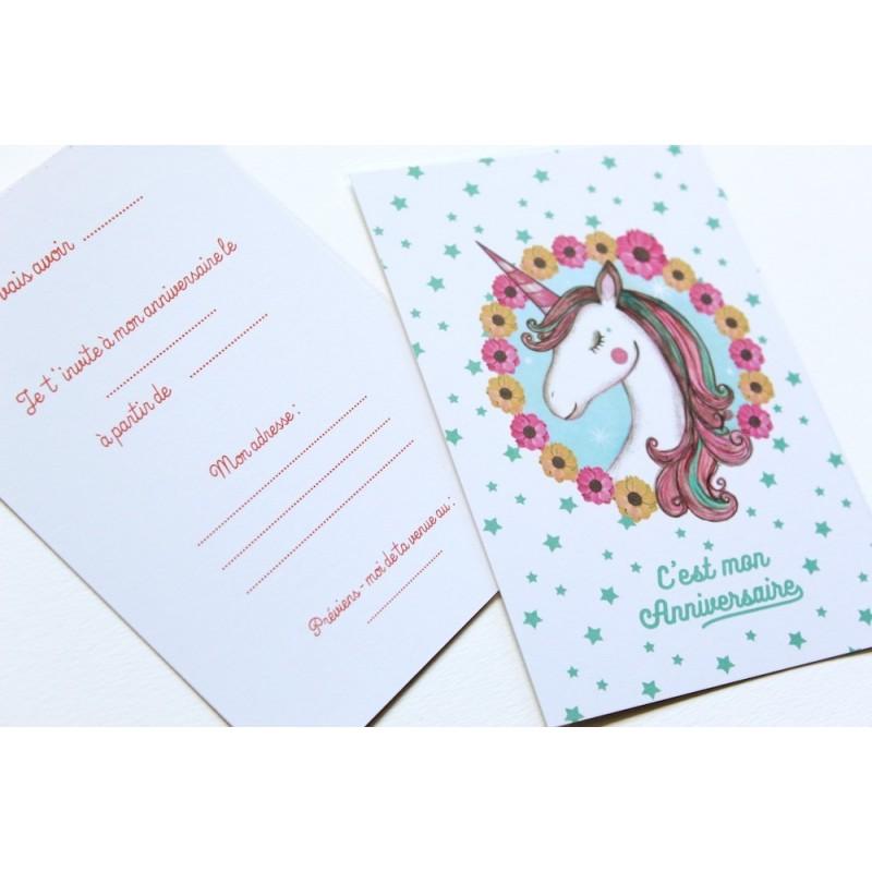 invitations theme licorne made in