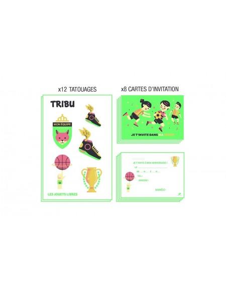 cartes invitation et tatouages jouets