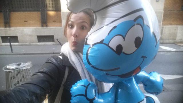Ballon Schtroumpfs - blog maman