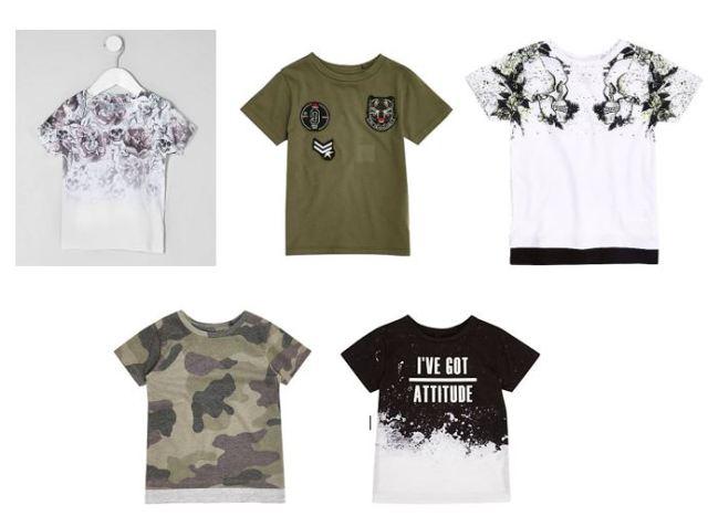 t-shirts pour petit garçon river island - blog maman