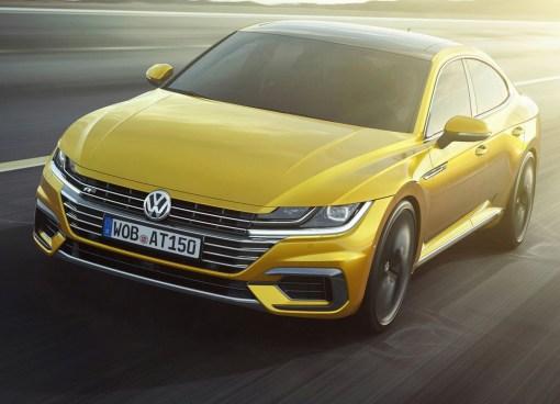 Volkswagen Arteon dynamique avant r-line jaune 1