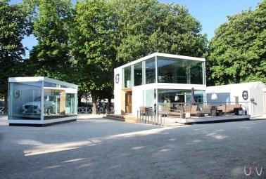 Showroom éphémère nouveau Volvo XC60 au jardin des Tuileries à Paris