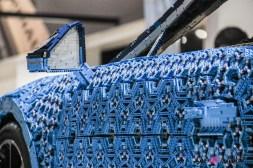Bugatti Chiron Lego Mondial auto Paris 2018 détail rétroviseur