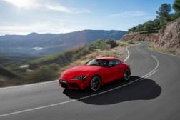 Toyota Supra 2019 dynamique avant calandre