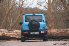 Suzuki Jimny arrière statique bleu