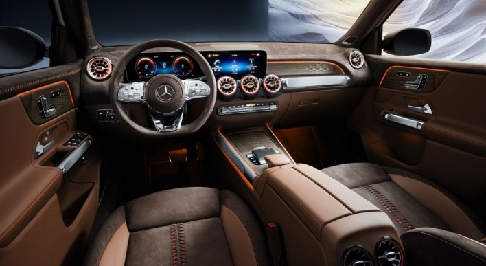 Mercedes GLB 2019 intérieur volant écran