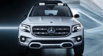 Mercedes GLB 2019 avant optiques feux calandre