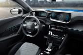 Peugeot 2008 2019 intérieur volant écran combiné