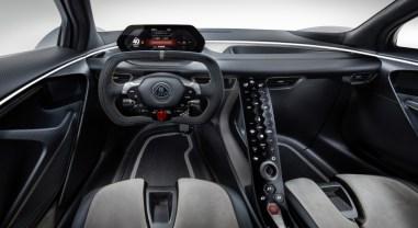 Lotus Evija 2019 intérieur combiné volant