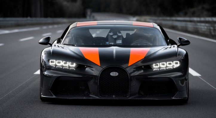 Bugatti Chiron 490 km/h 2019 face avant statique record SuperSport
