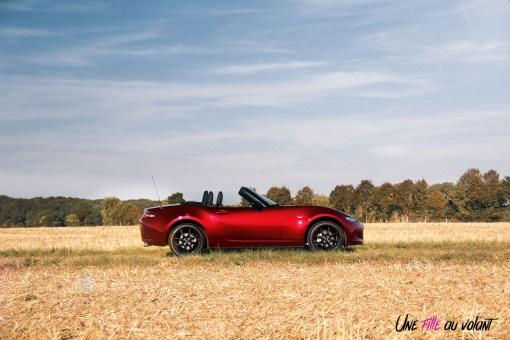 Essai Mazda MX-5 profil jantes cabriolet
