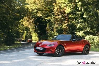 Essai Mazda MX-5 cabriolet essence skyactiv 132 ch road trip