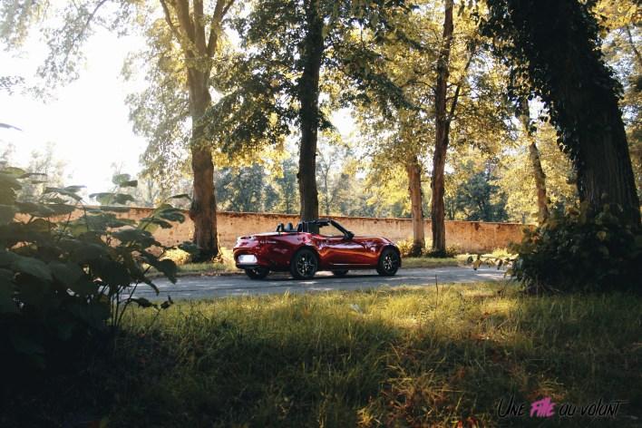 Essai Mazda MX-5 arrière statique jantes cabriolet lifestyle roadtrip