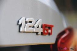Essai Abarth 124 GT logo coffre détail