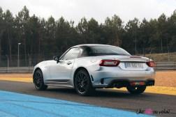 Essai Abarth 124 GT arrière feux jantes échappement monza essence